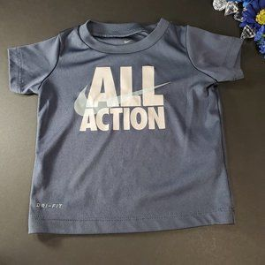 4/$25 Nike Dri-Fit All Action Blue Shirt, 12 Month